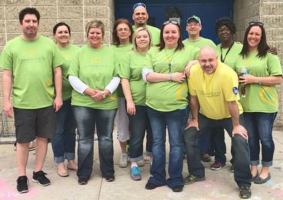 A group of volunteers for the Boys and Girls Club