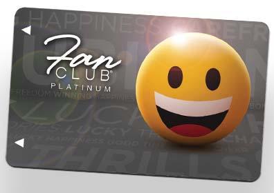 Platinum fan club card