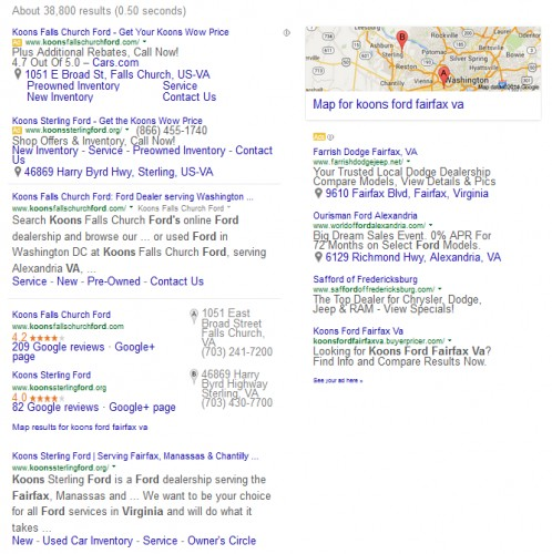 Google Search Results Above The Fold