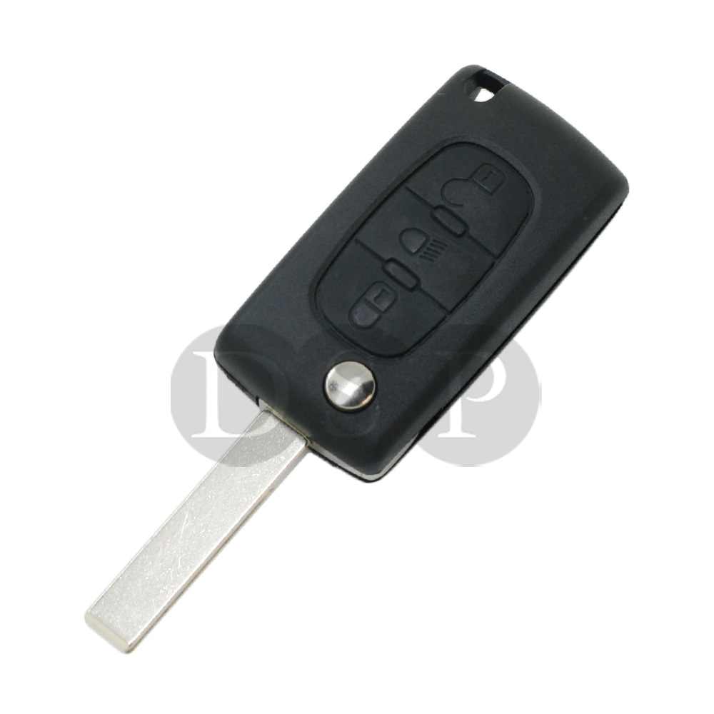 flip remote key shell fit for citroen c2 c3 c4 c5 c6 light symbol groove 3b 315c ebay. Black Bedroom Furniture Sets. Home Design Ideas