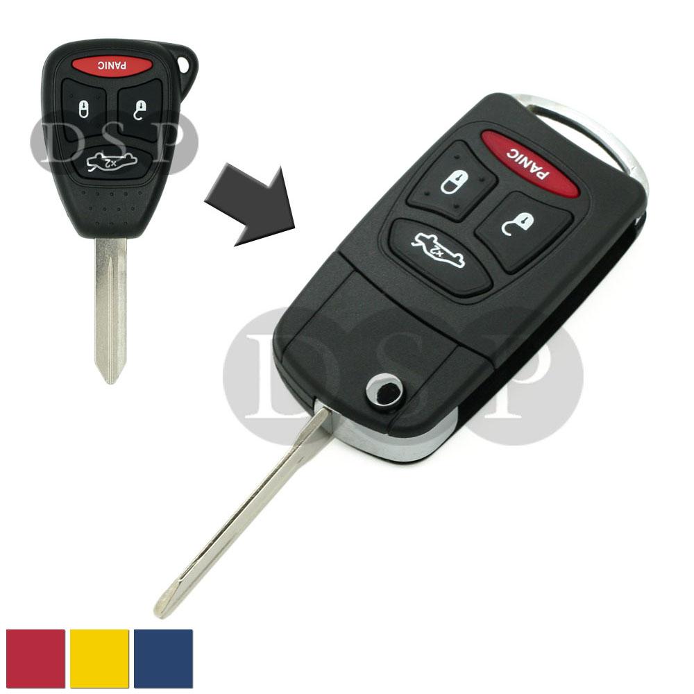Flip Remote Key Case Shell Fit For DODGE CHRYSLER 300