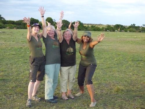 Having fun on an African safari