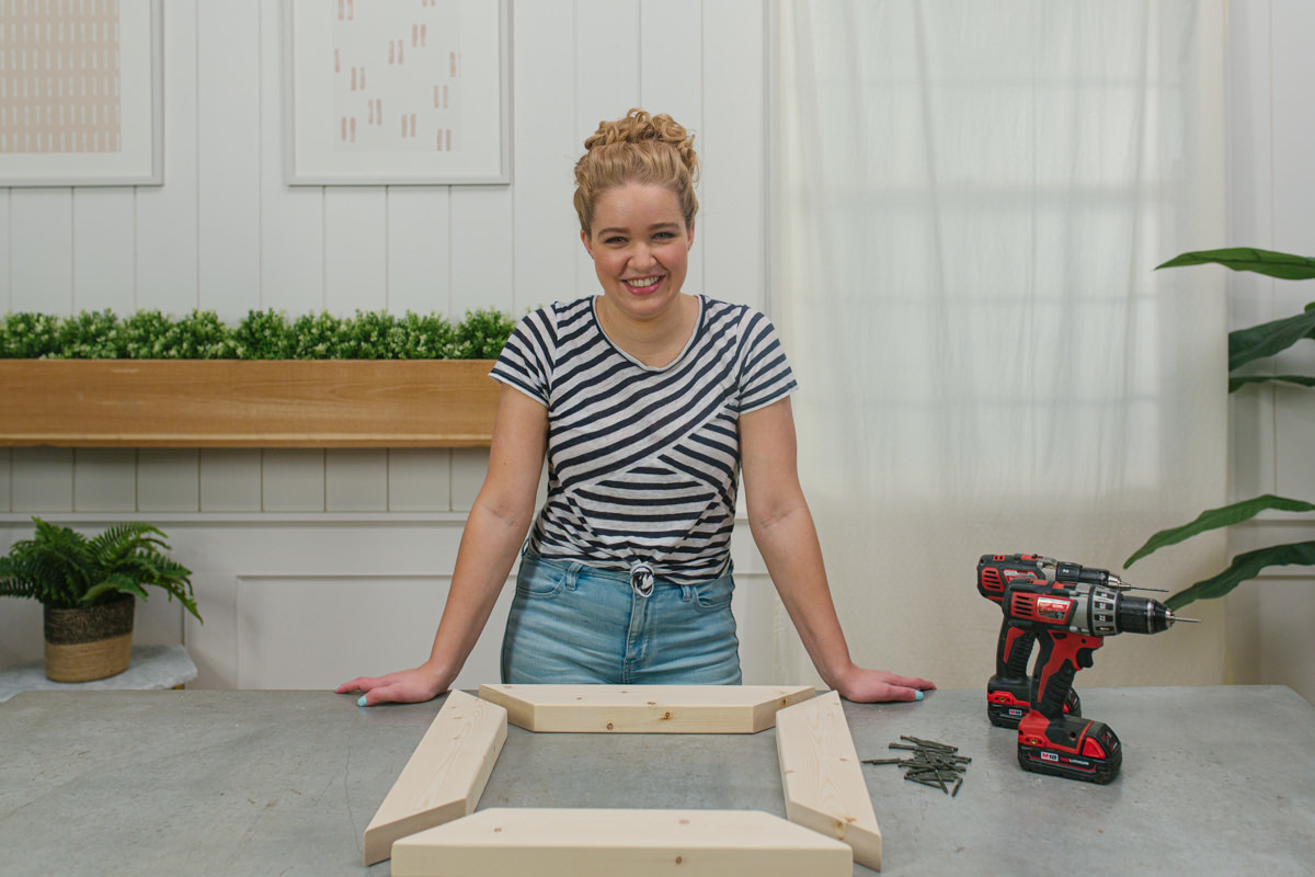 assemble tiers for your end table