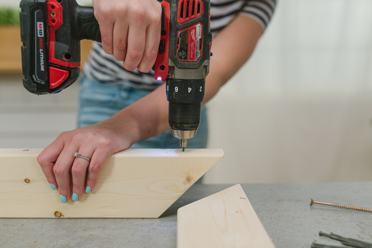 pre-drill the holes for your screws