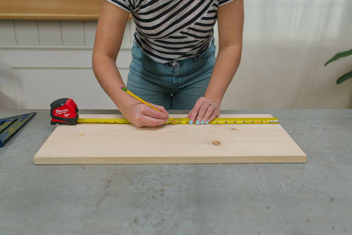 cut the wood to start your end table project