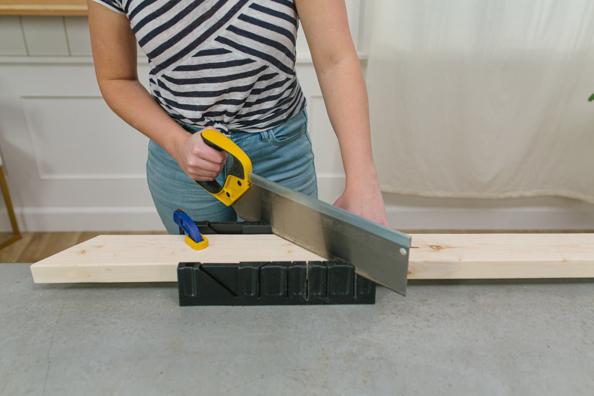 cut the board in a mitered angle