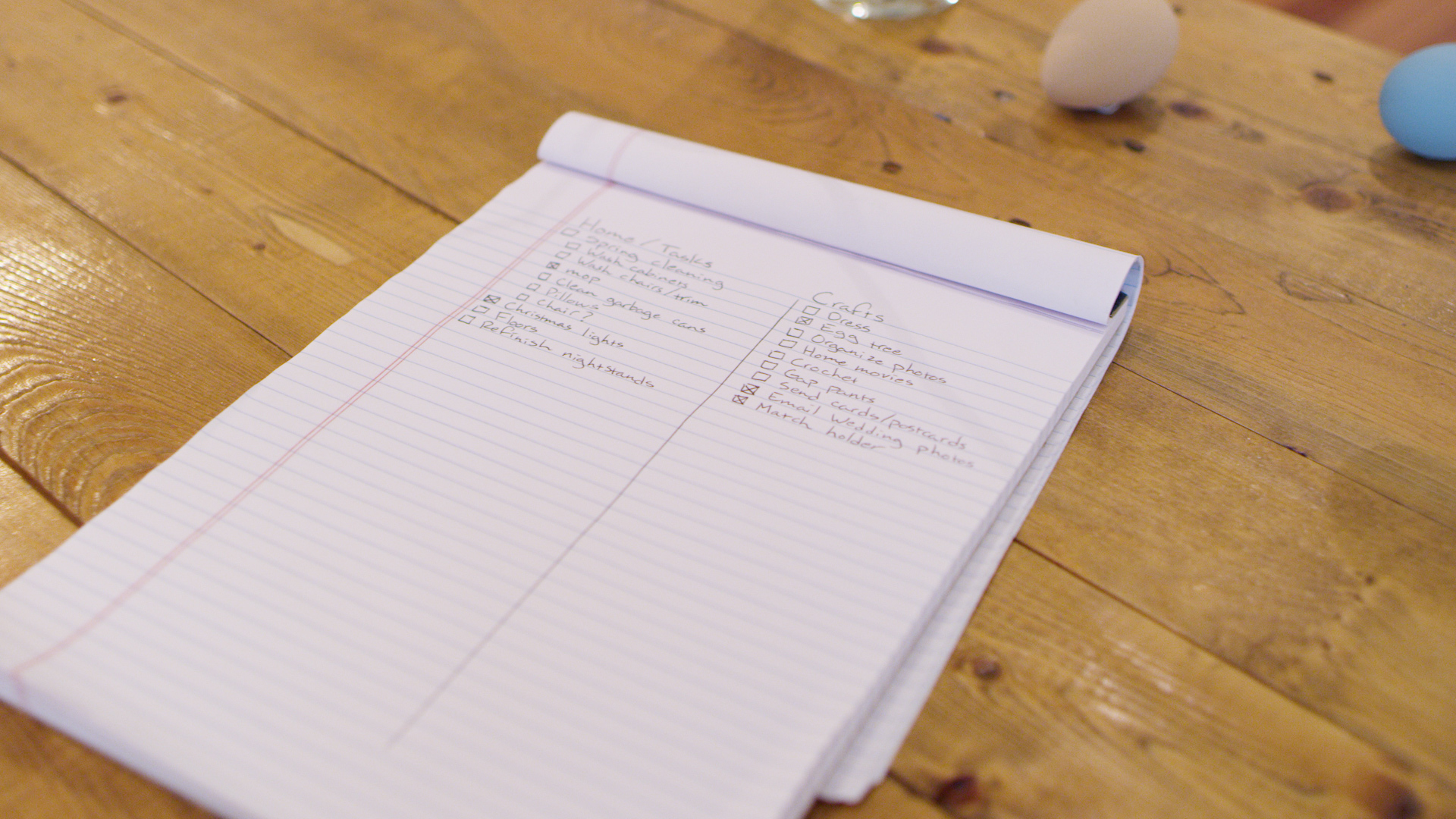 make a list for spring cleaning