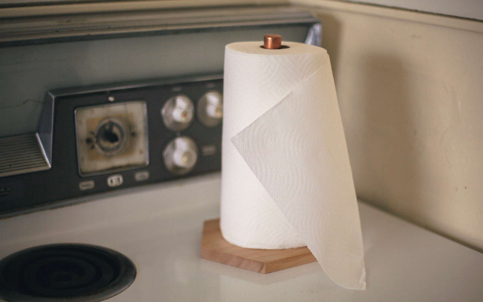 copper towel holder diy