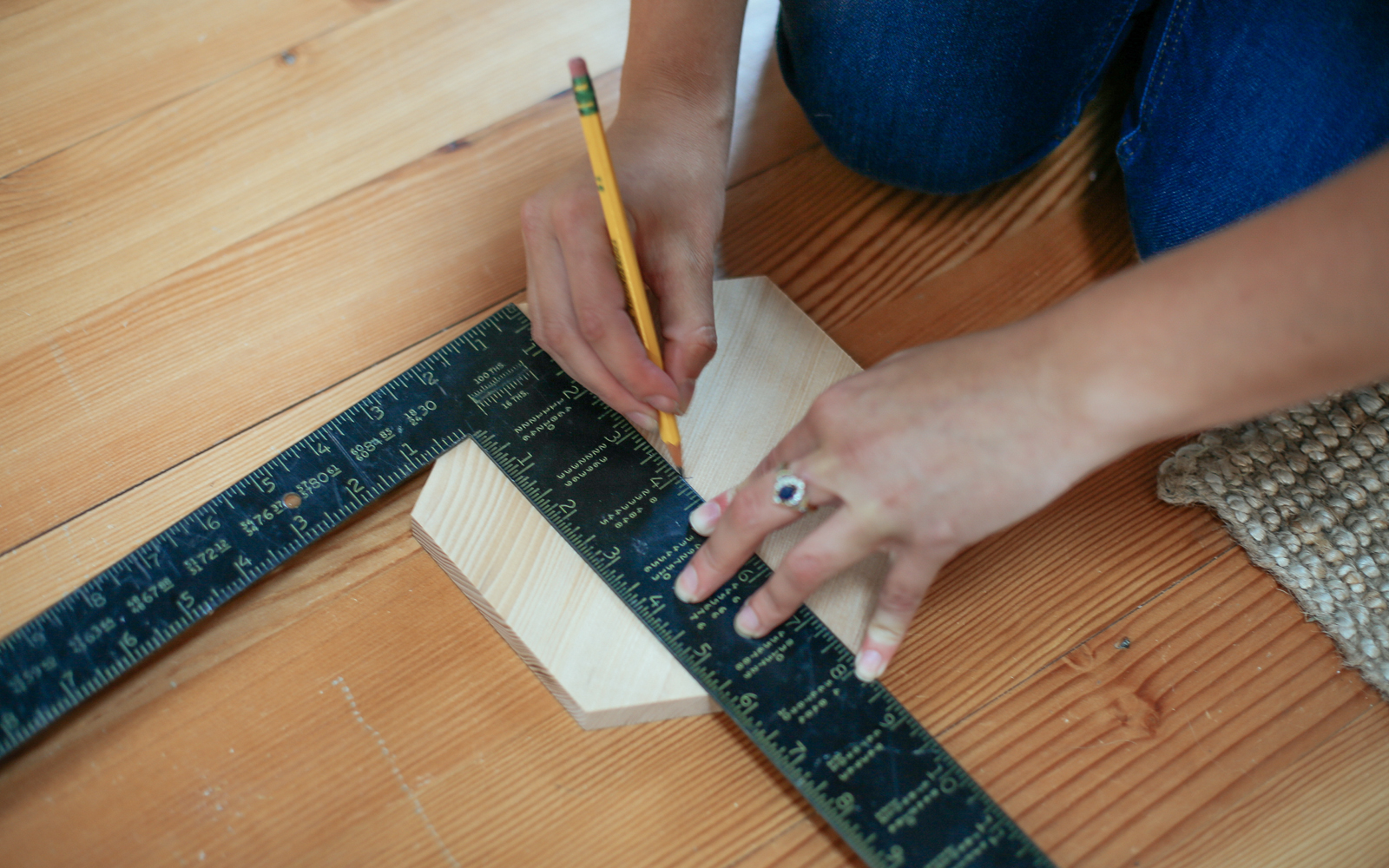 preparing to cut wood