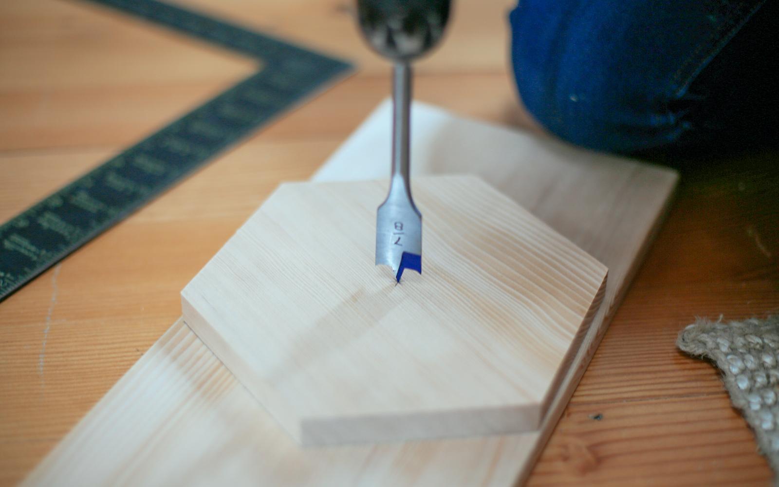 spade bit for paper towel holder