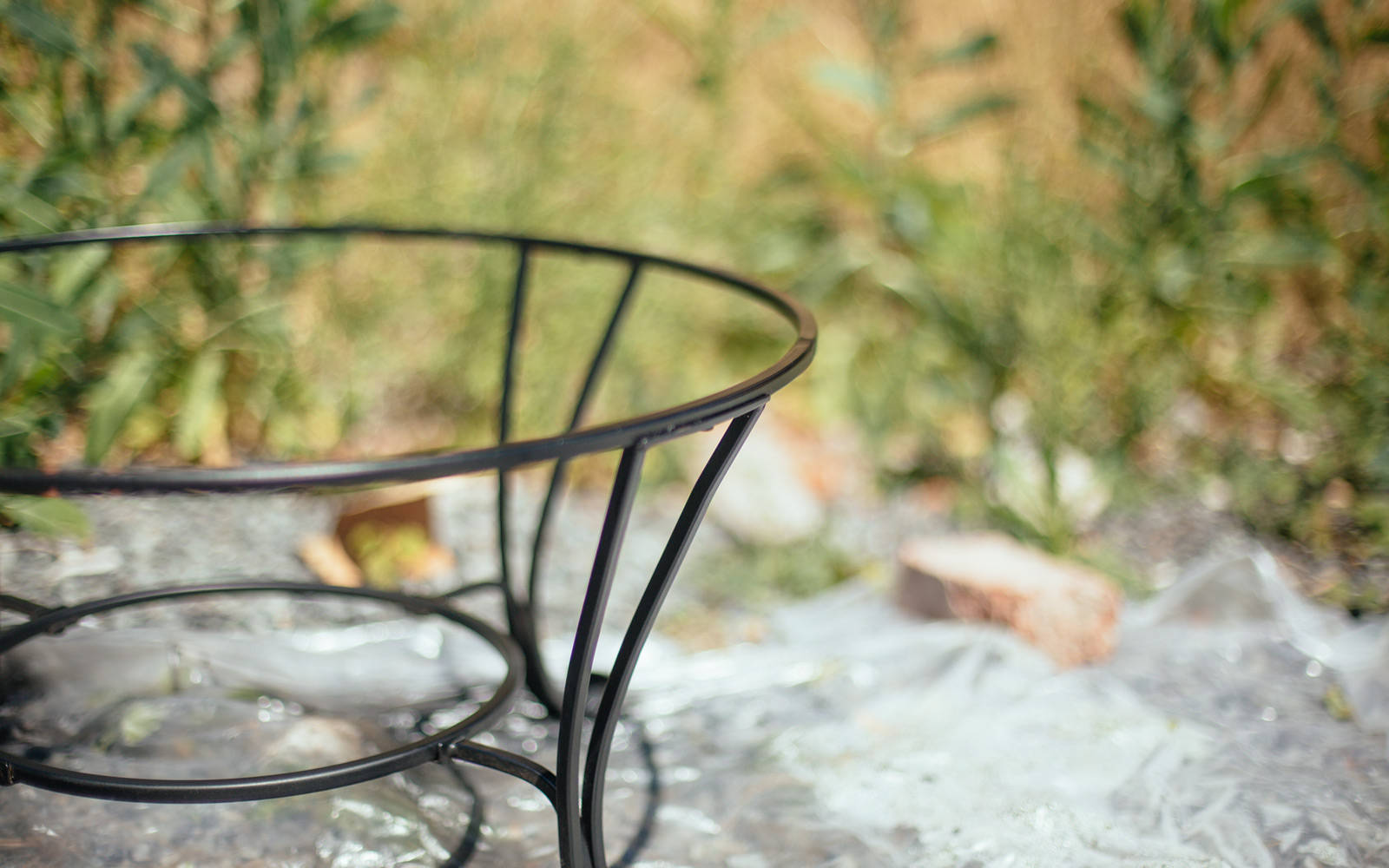 painting fire pit stand
