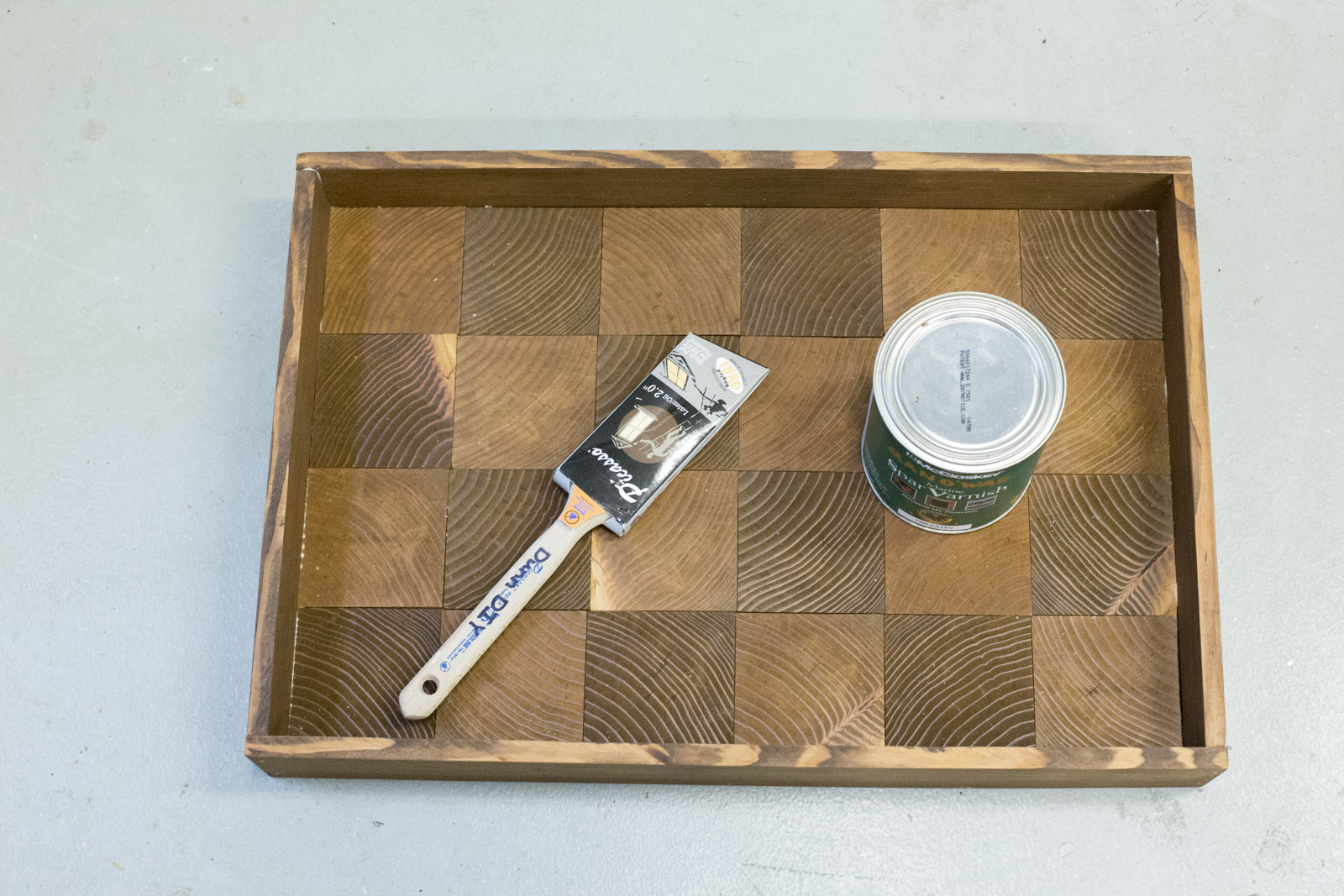 diy wood serving tray