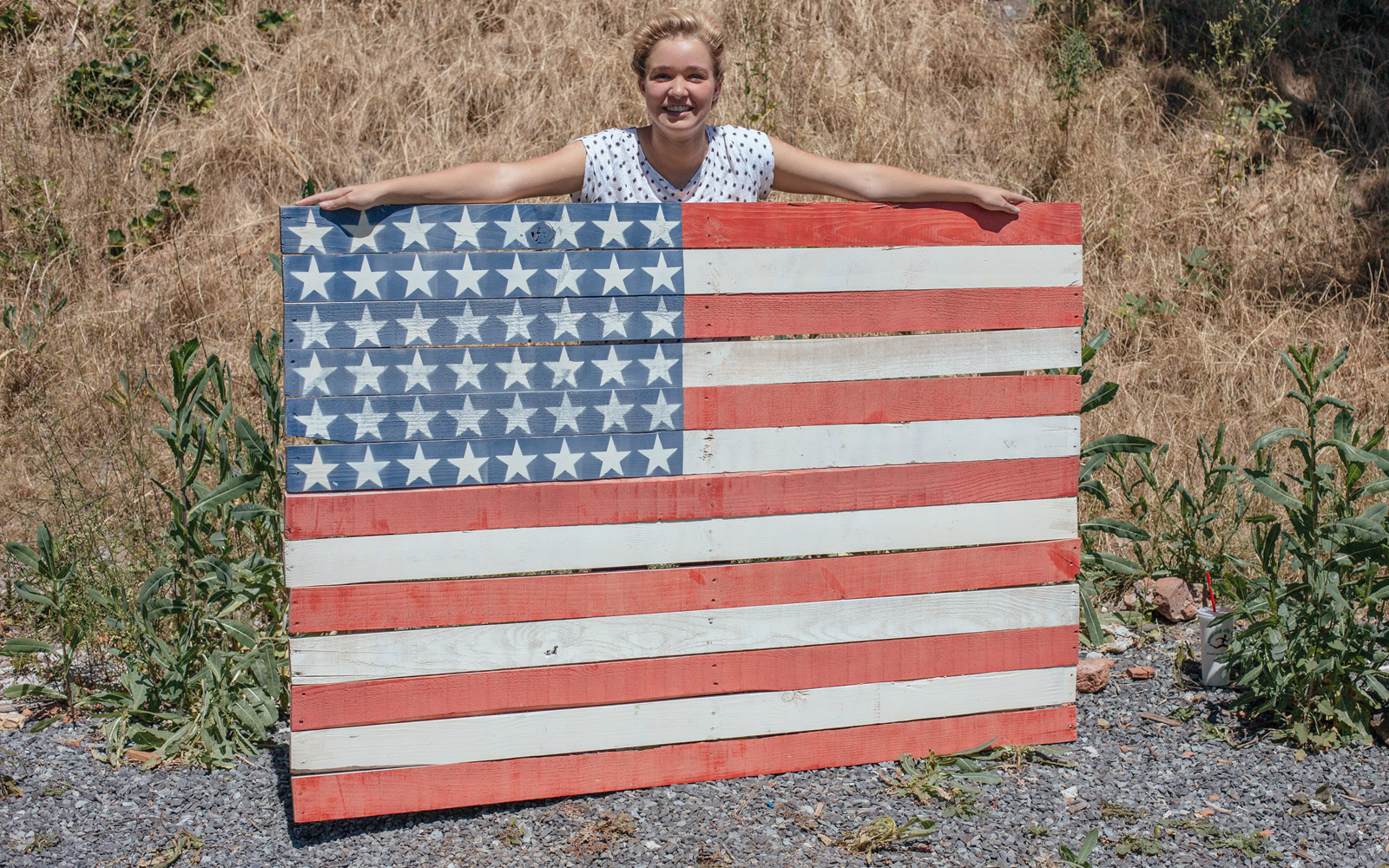 How To Make A Fourth Of July (American) Flag Pallet Sign