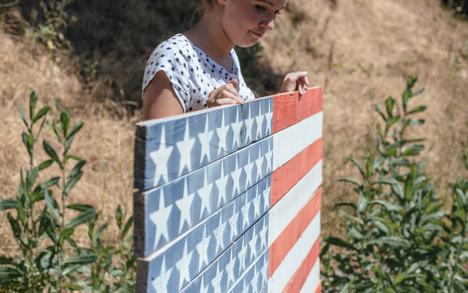 diy american flag pallet sign