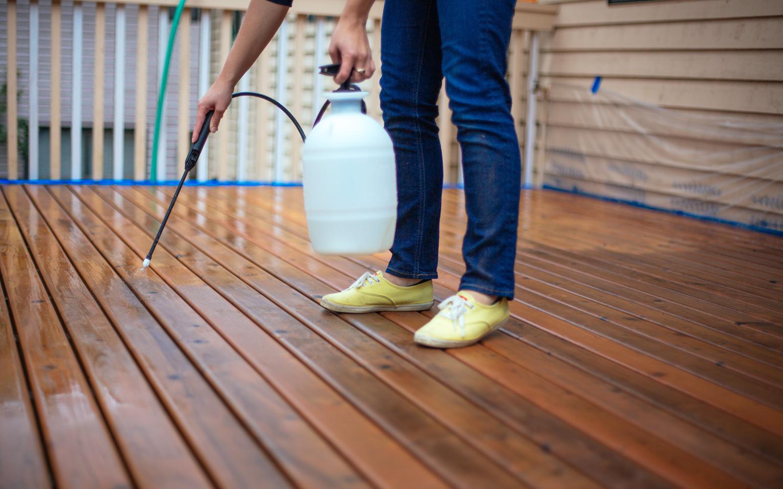 rinsing deck