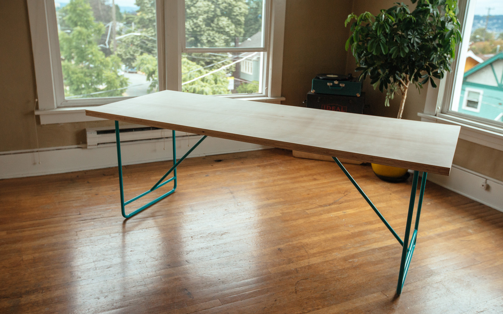 diy mid- century modern dining room table - home improvement