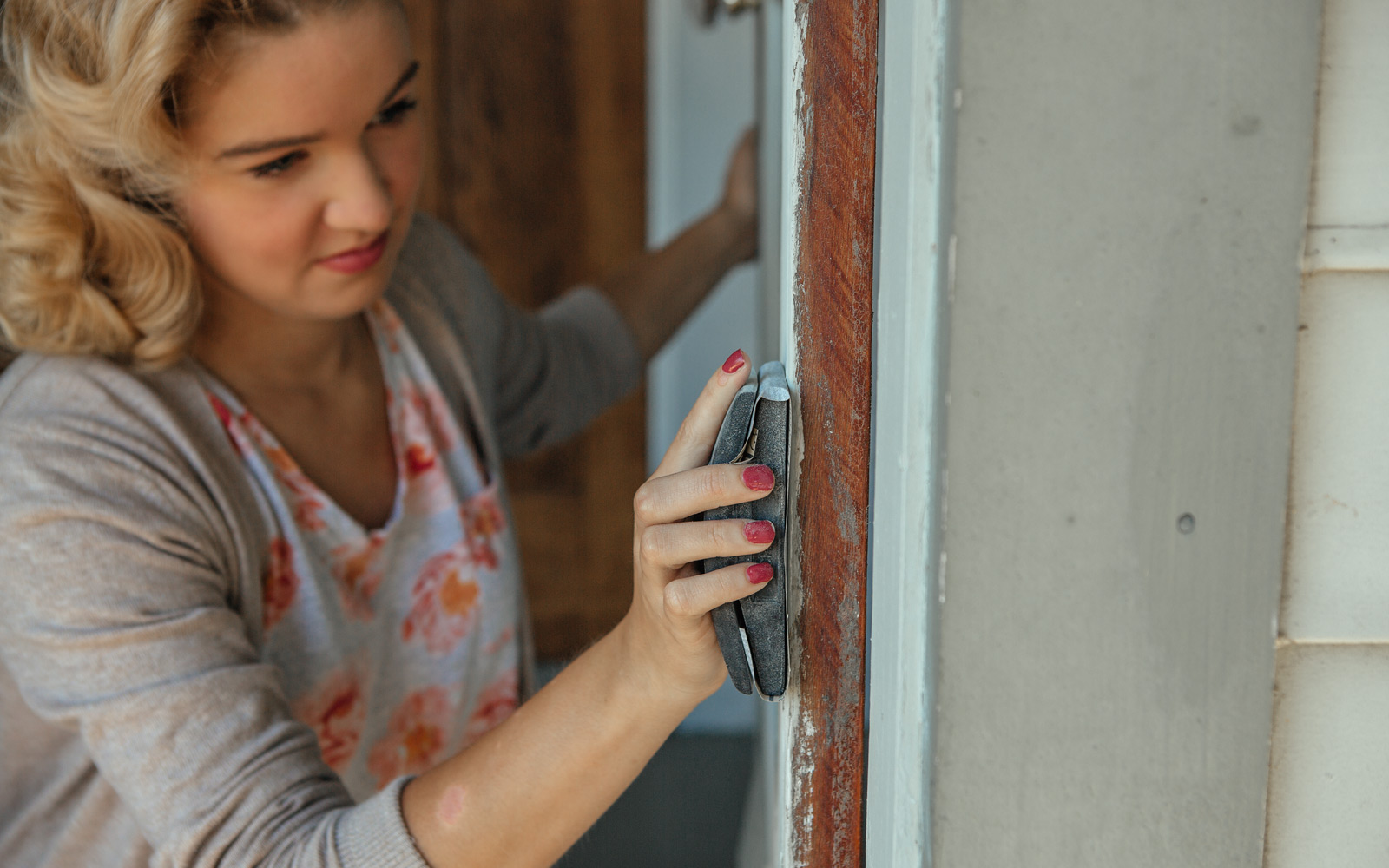 sanding front door