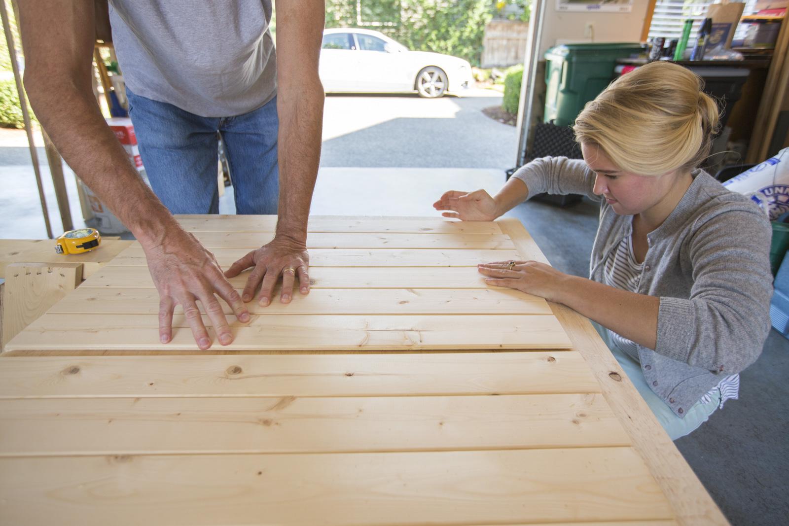 diy headboard wood