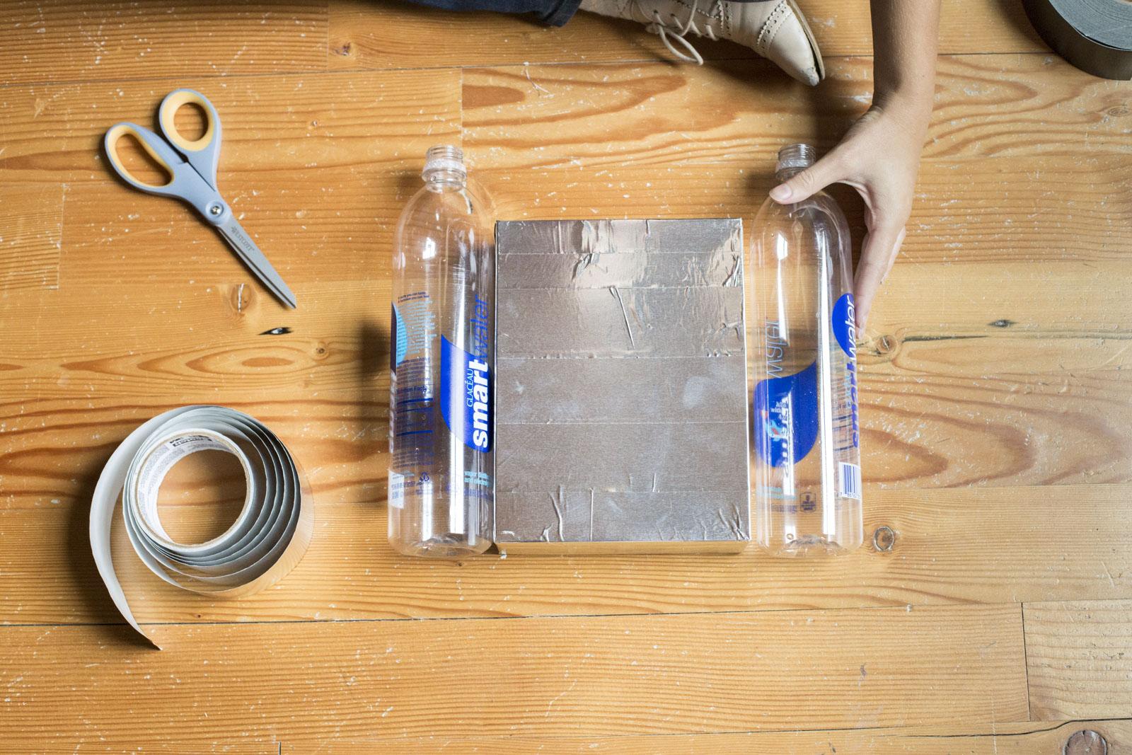 covering box in foil tape