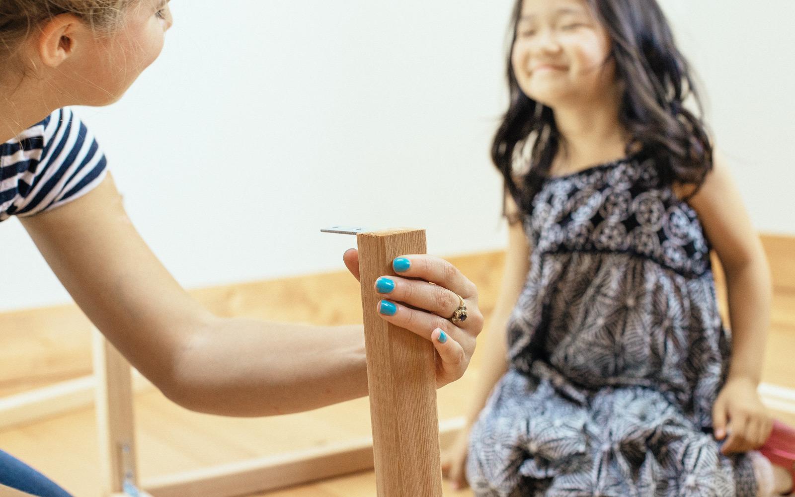 girl making lemonade stand