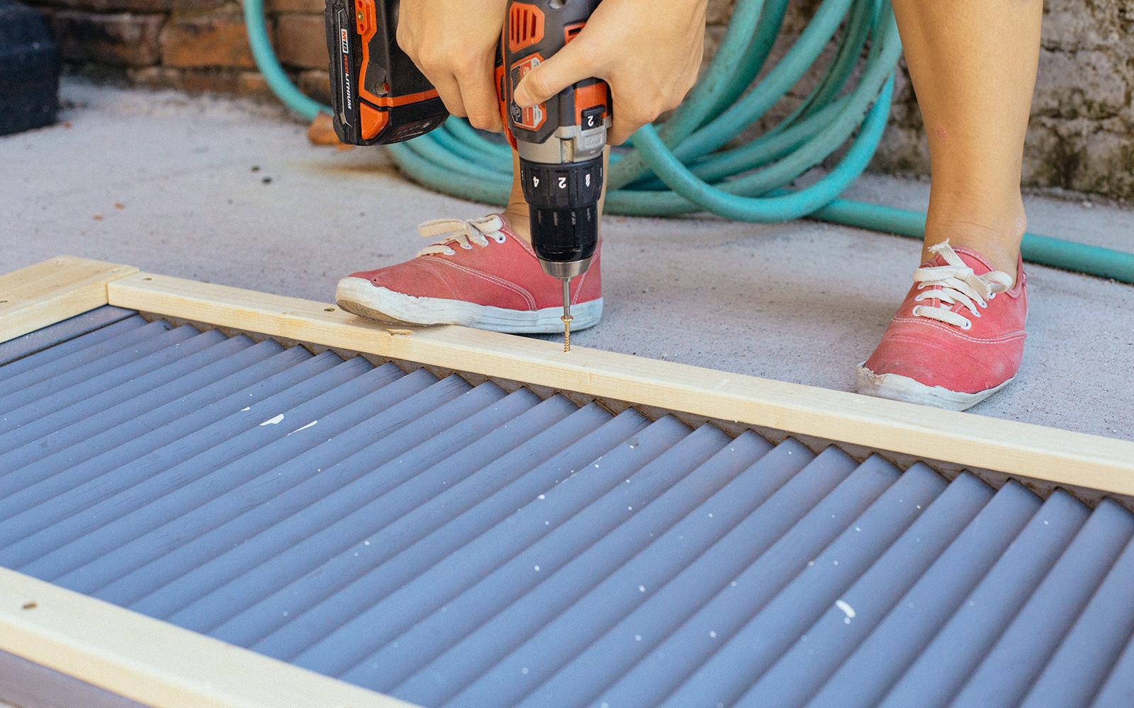 pre drill shutter table top
