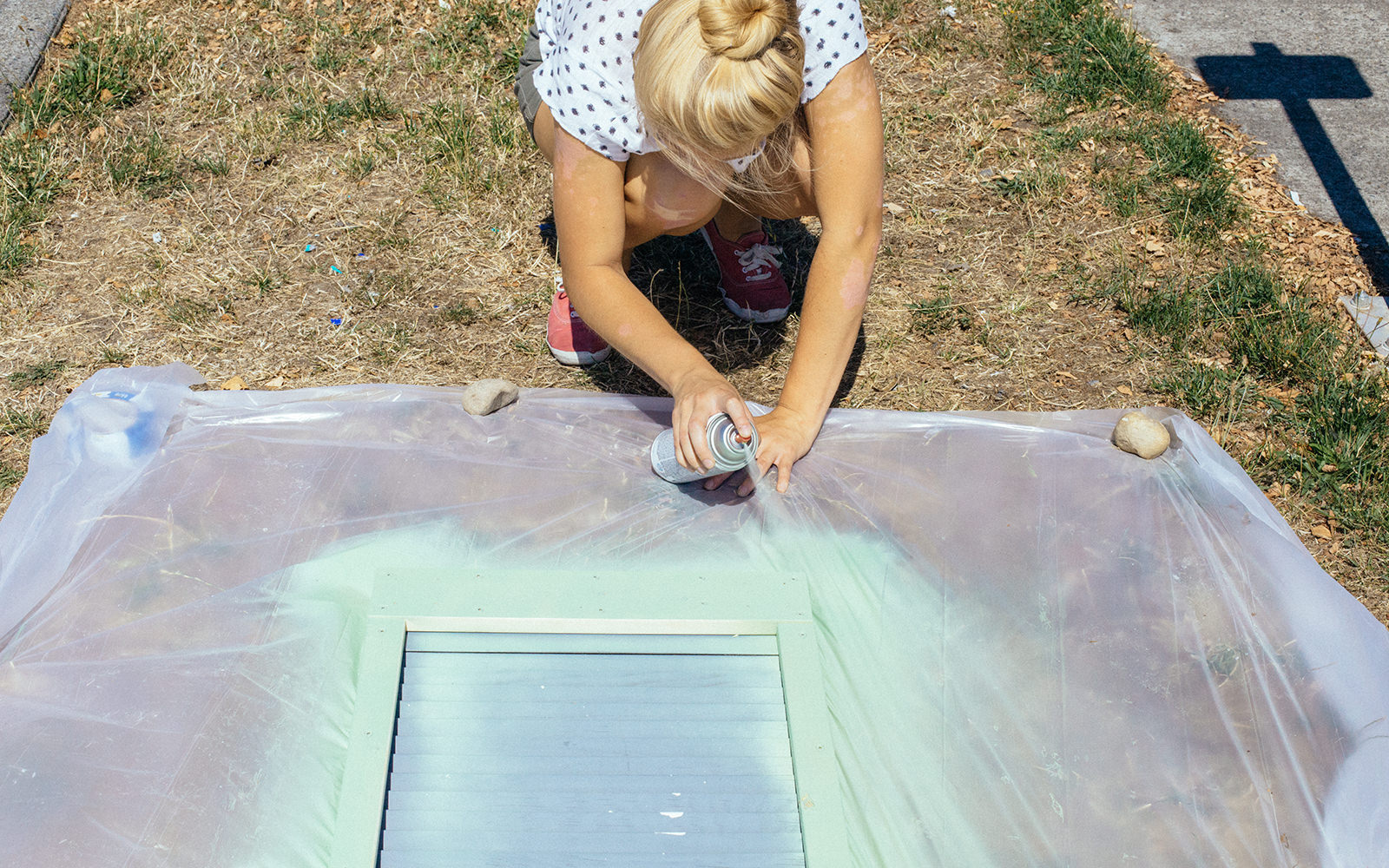 painting industrial table top