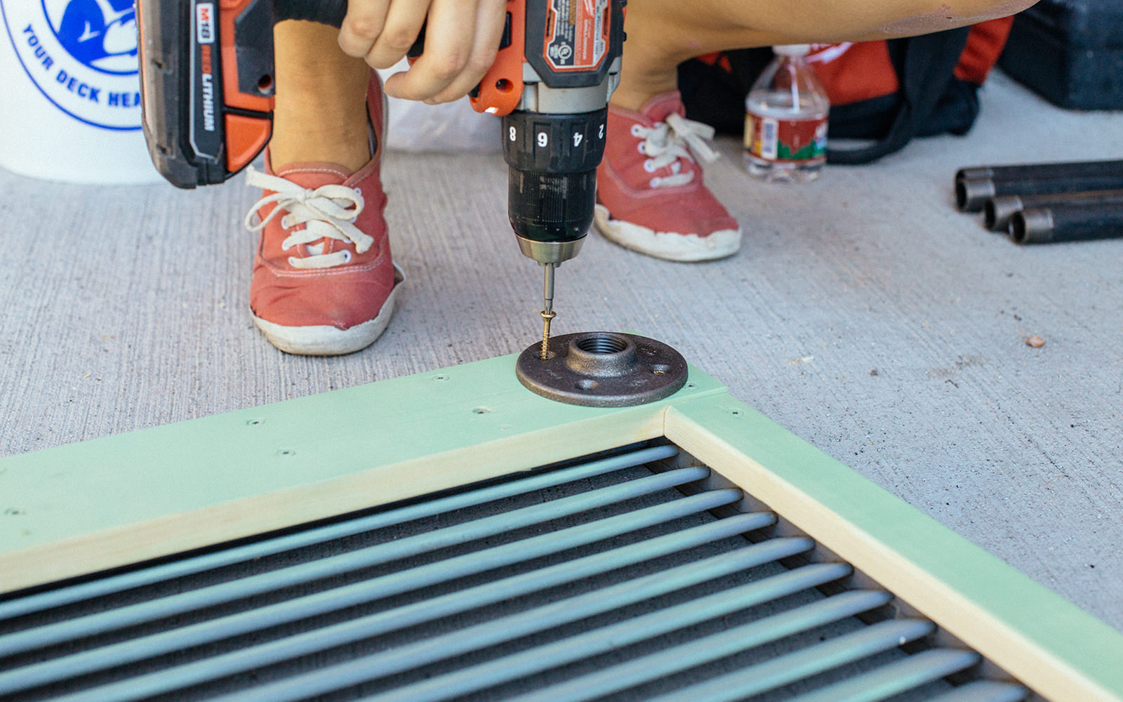 attach flanges to table diy