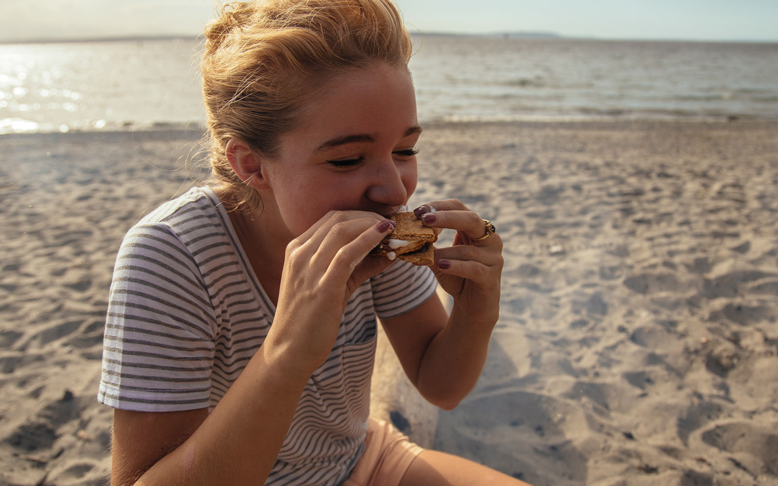 eating a smore