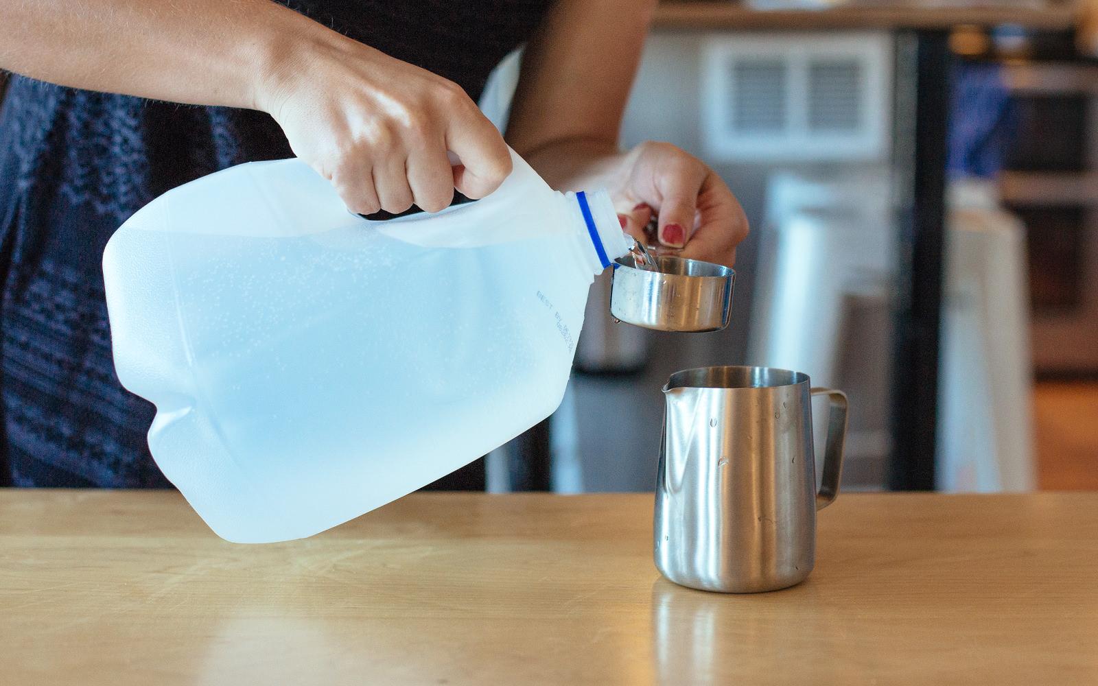 distilled water for diy dusting spray