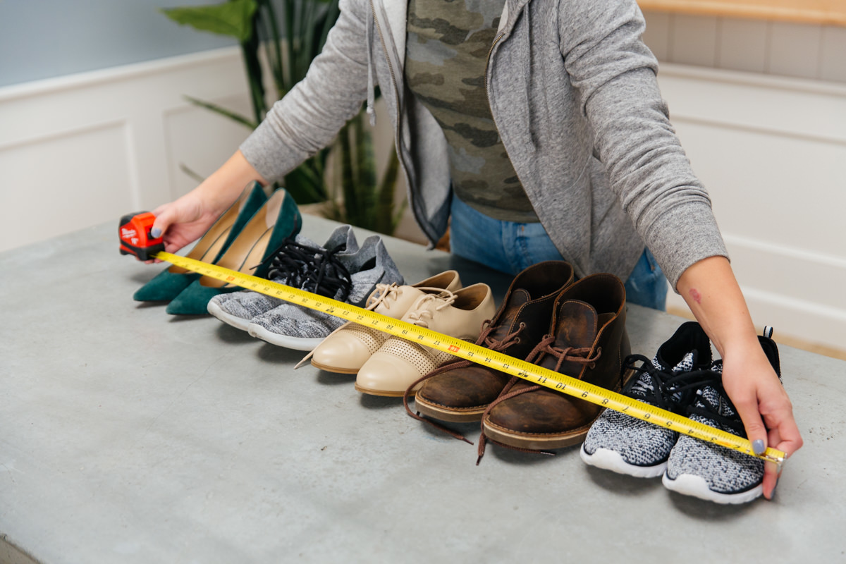 measuring for shoe rack