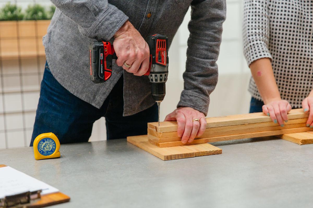 drilling frame boards