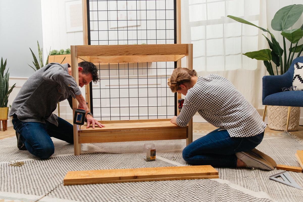 building potting bench frame