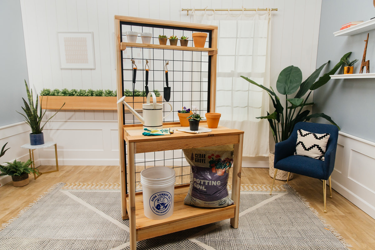 build a potting bench at Seattle garden show