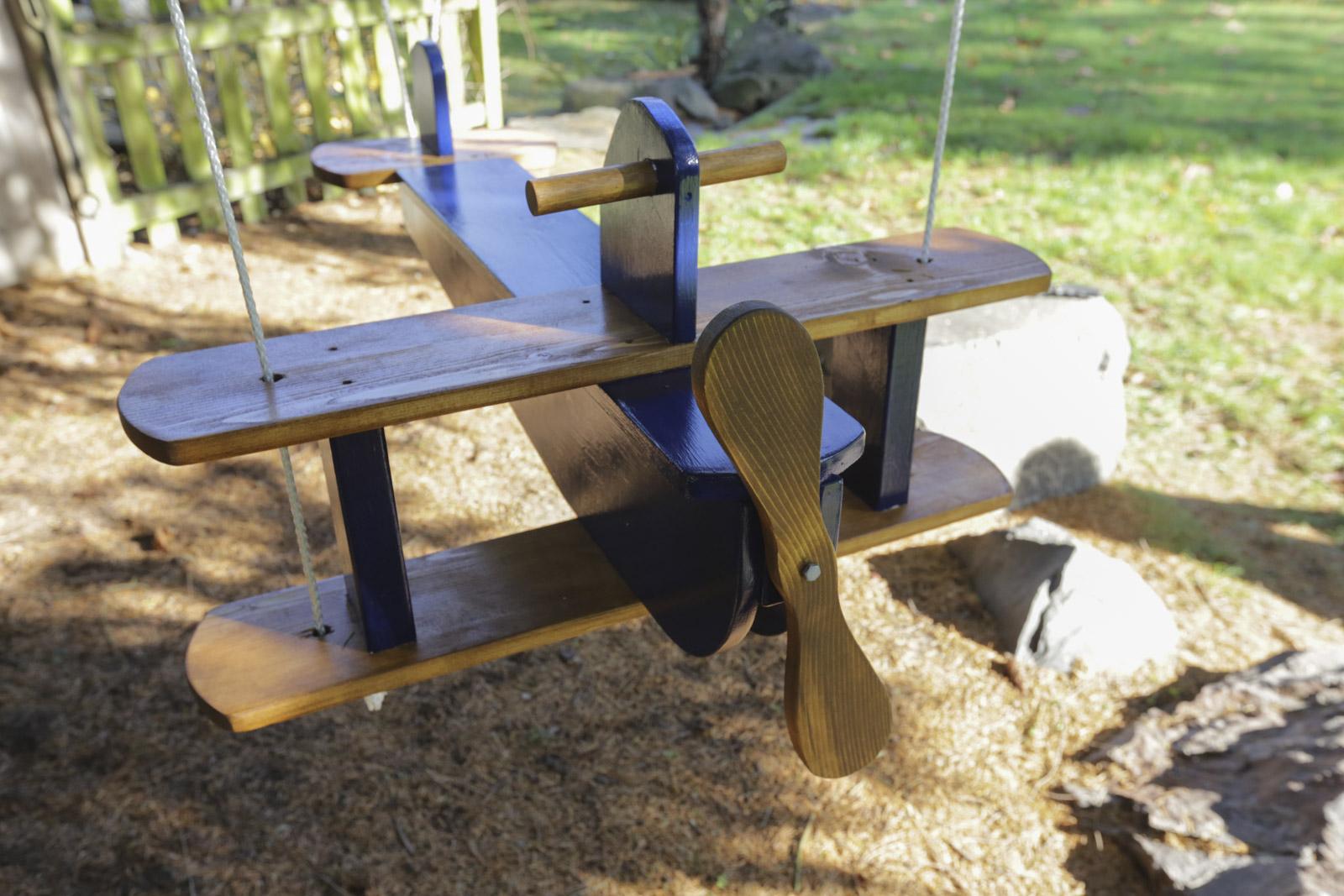 handmade airplane swing diy