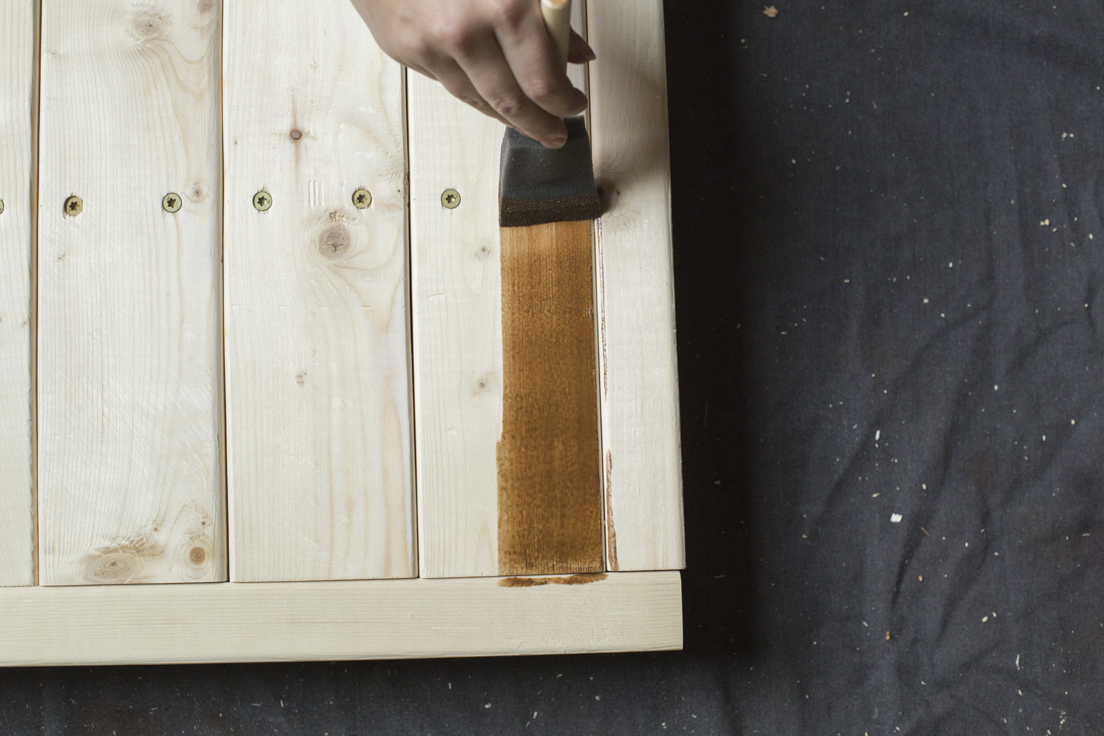 stain your firewood rack
