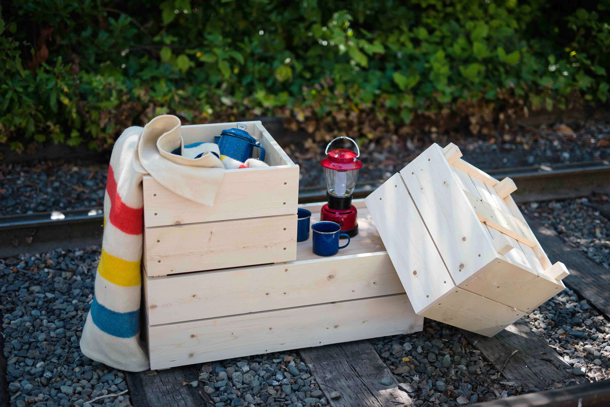 diy camping storage crates