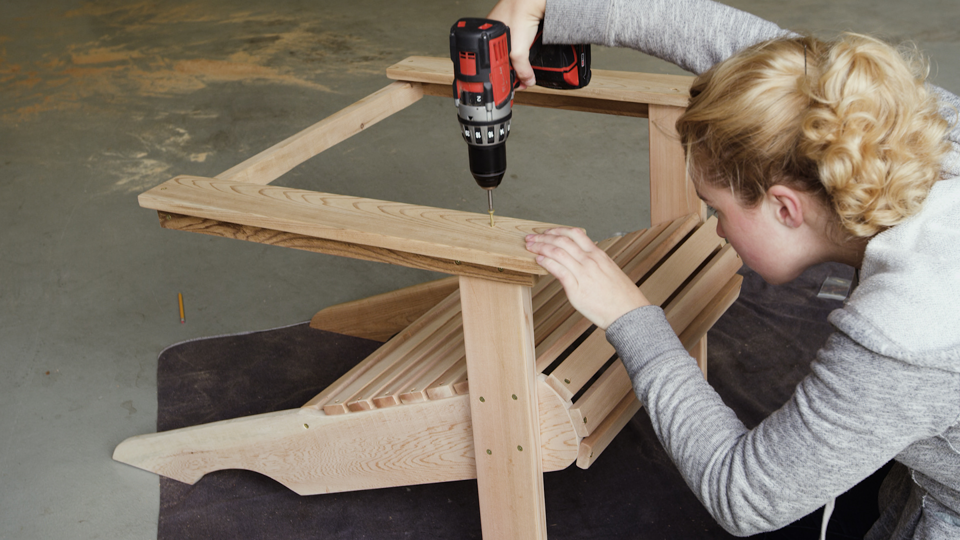 armrests for diy adirondack chair