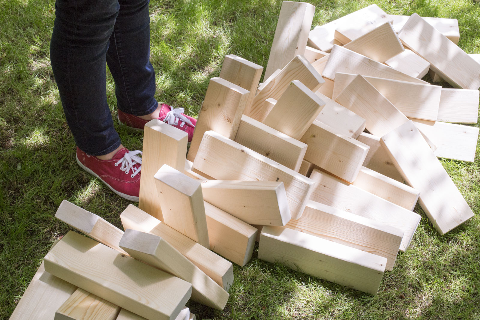 outdoor jenga pieces