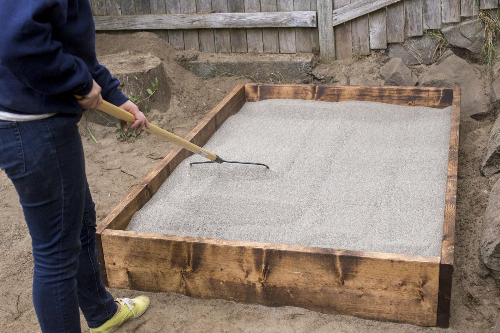 filling in sandbox