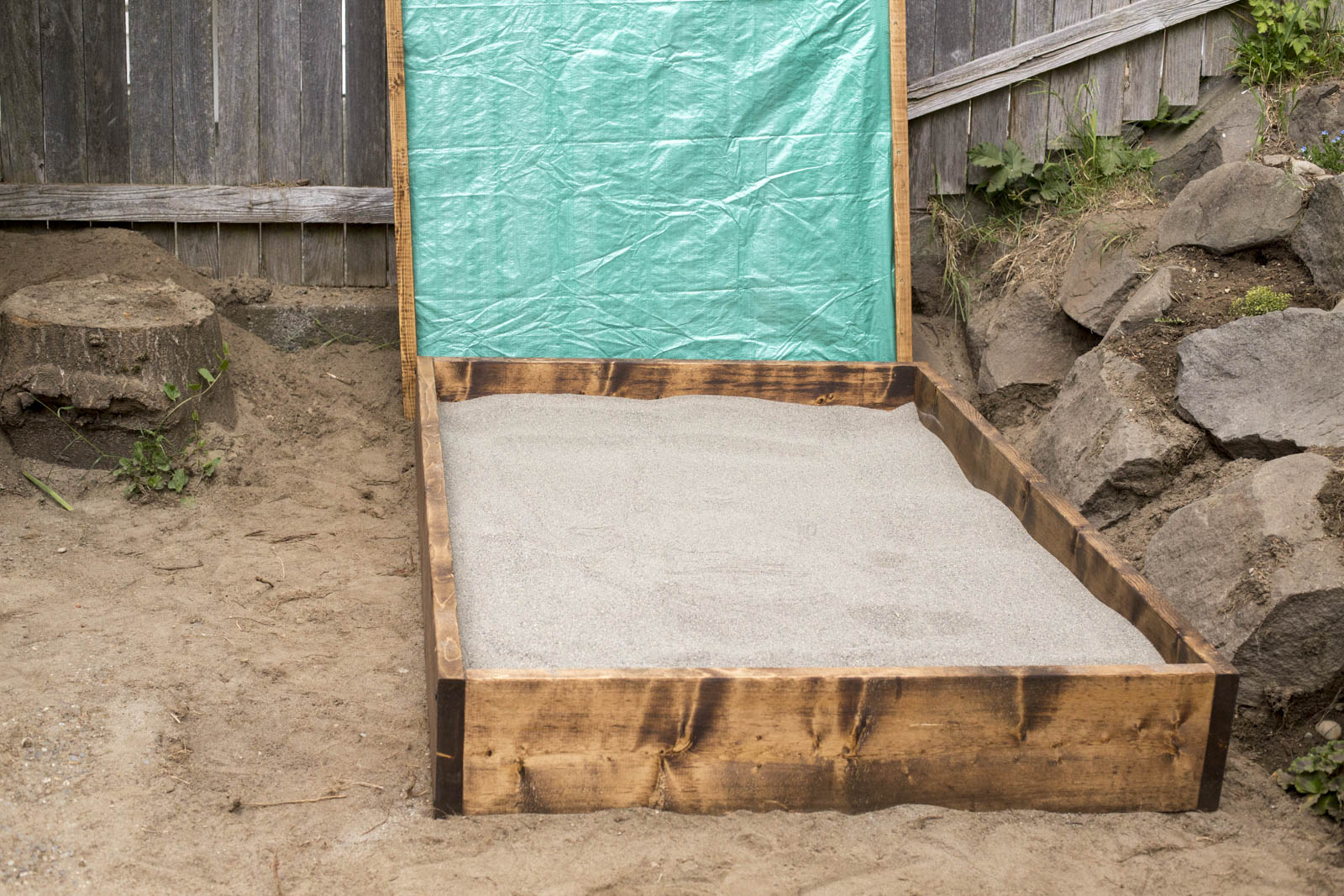 sandbox lid diy