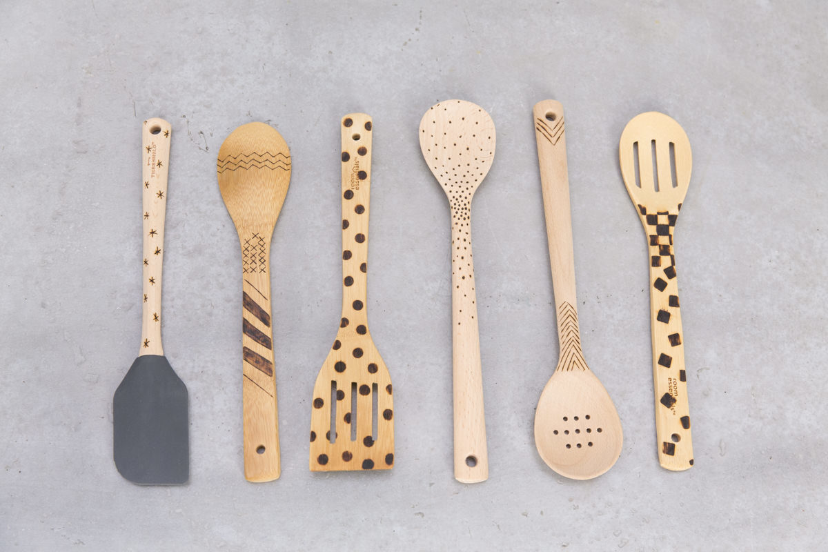 How to Decorate Kitchen Utensils With Wood Burning