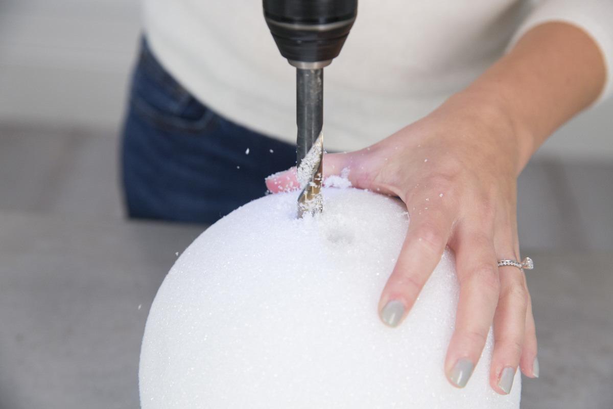drill styrofoam