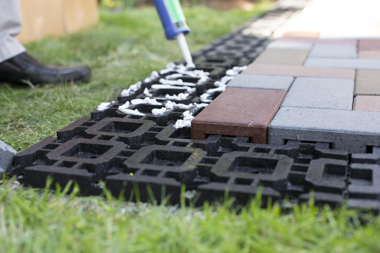glue grid for azek paver
