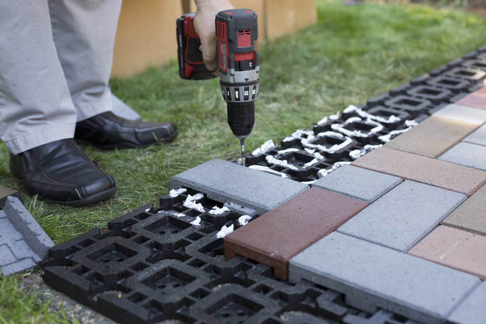 drill for azek pavers