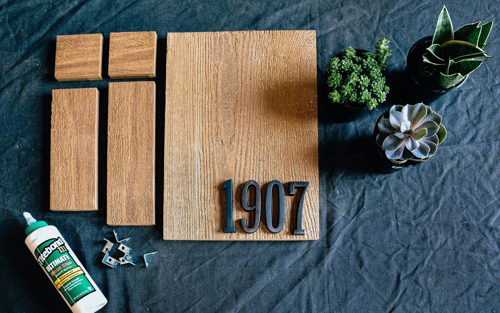 house number planter box diy