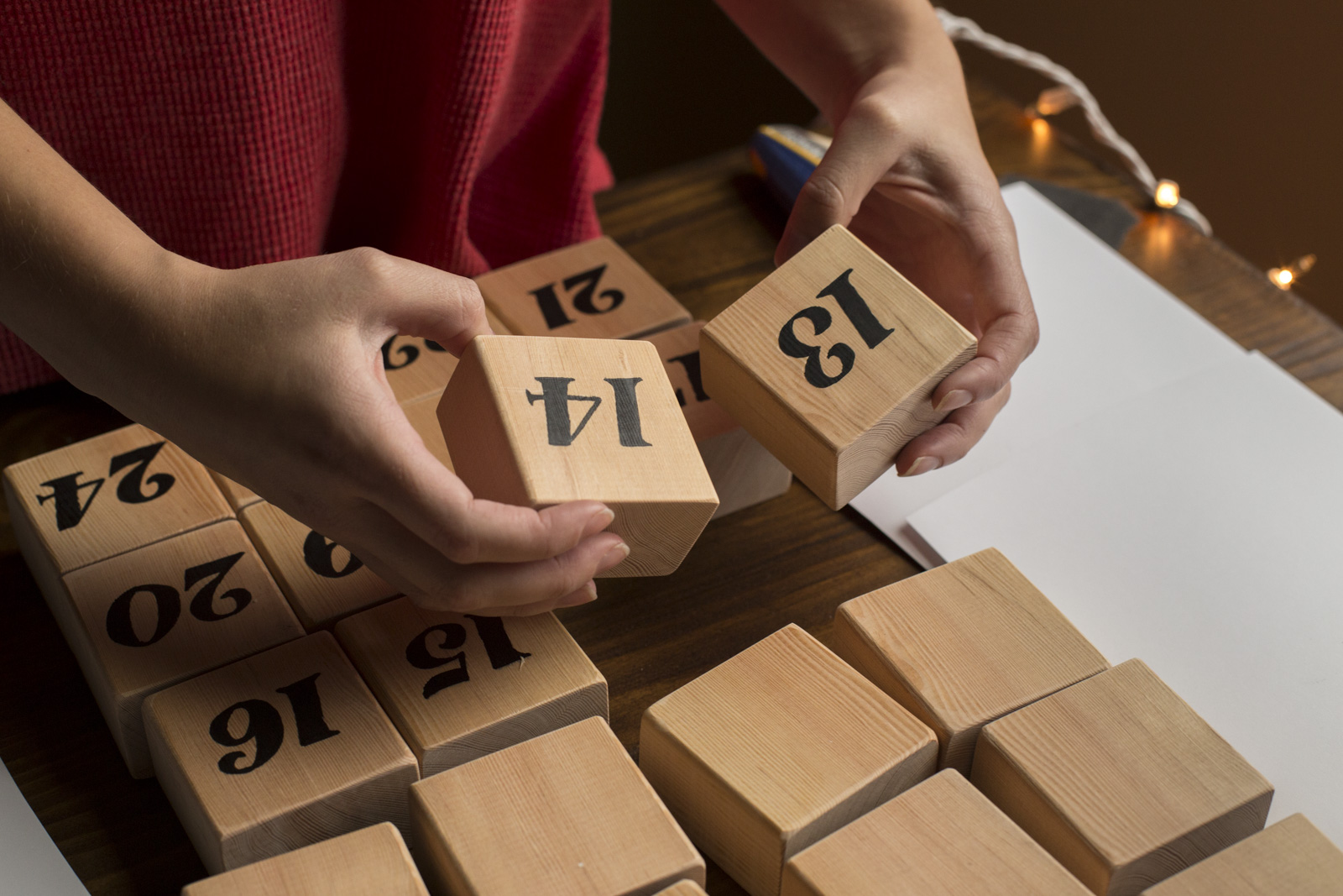 diy wood blocks for calendar