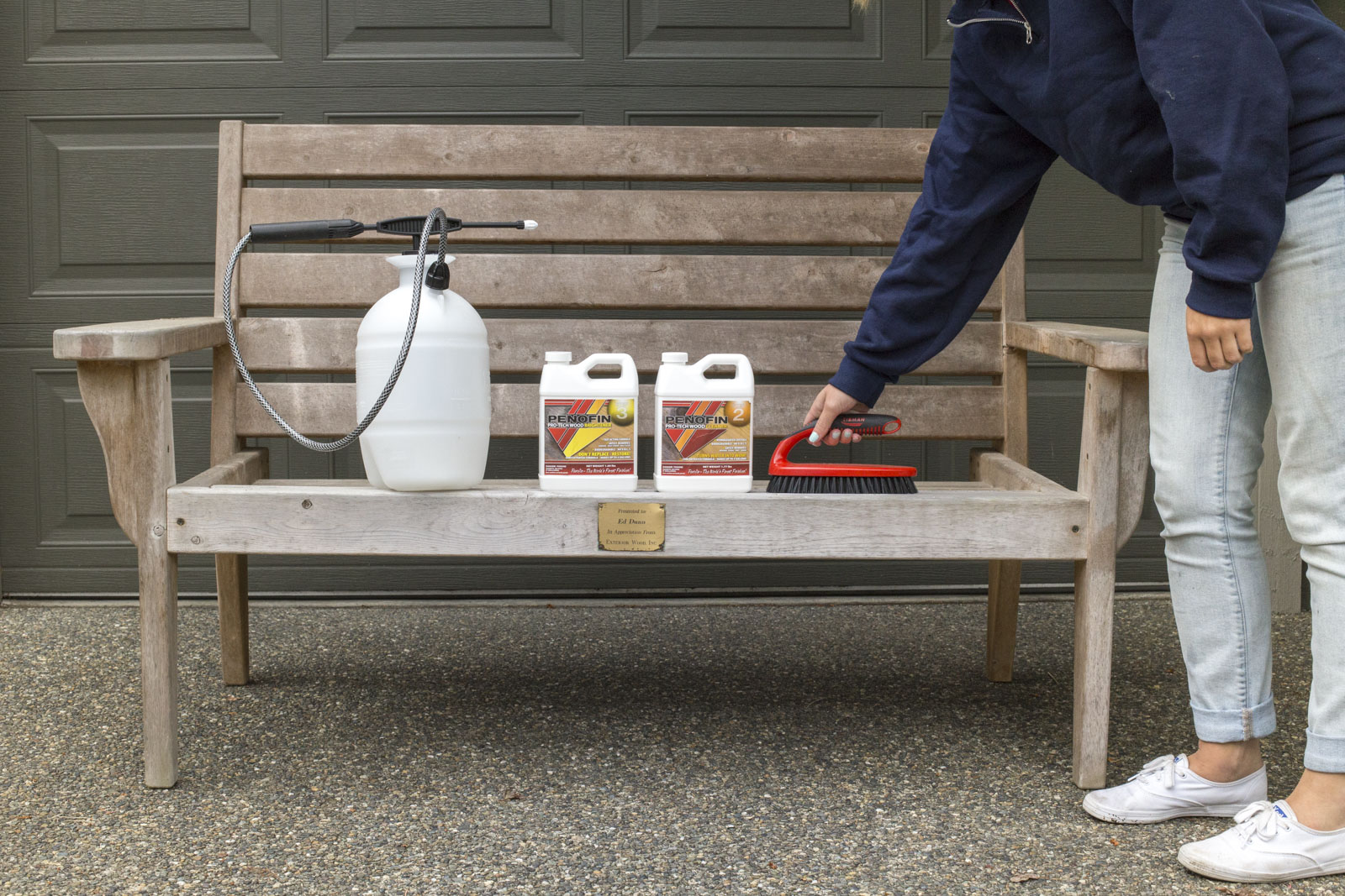 materials to refinish bench