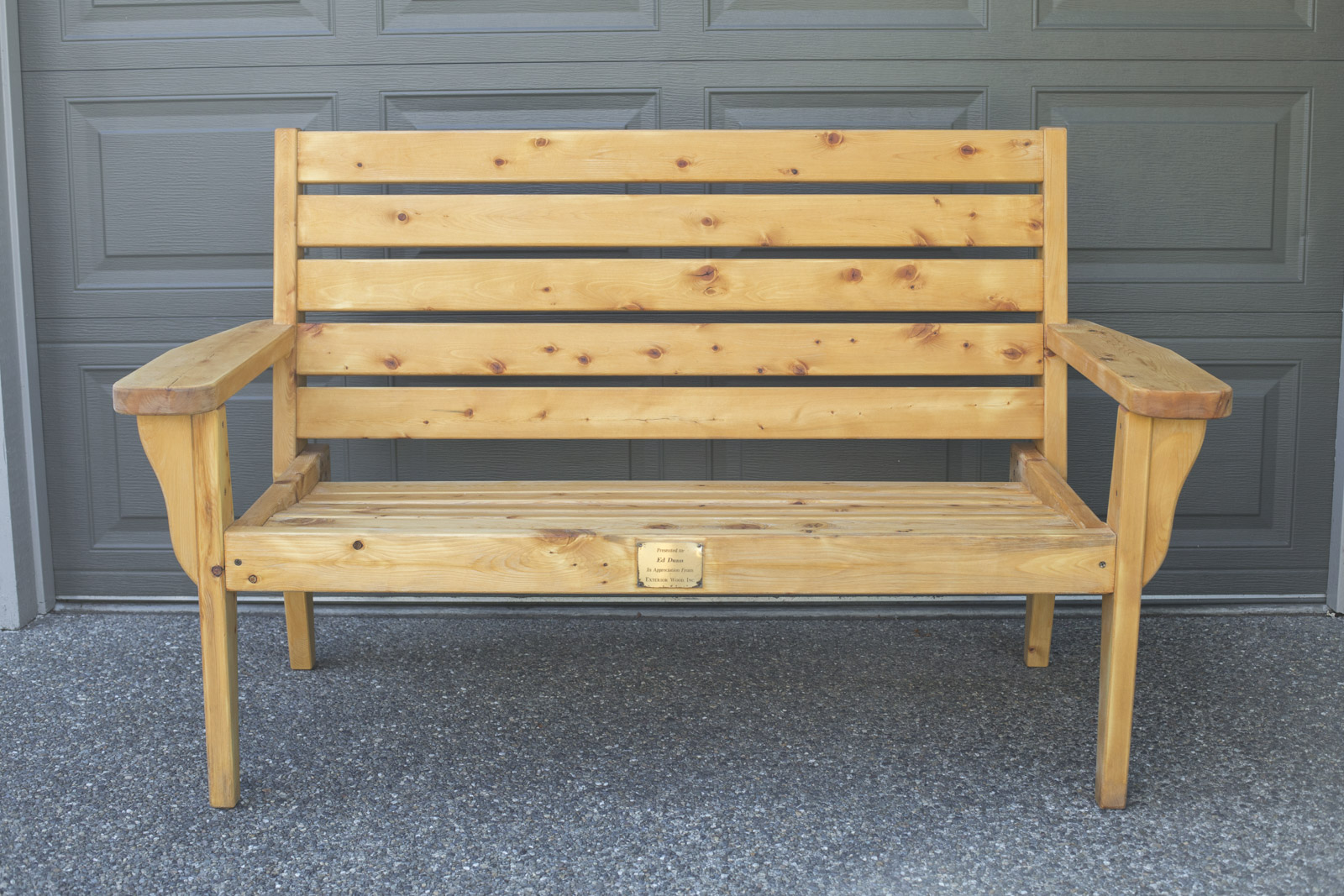 diy weathered bench