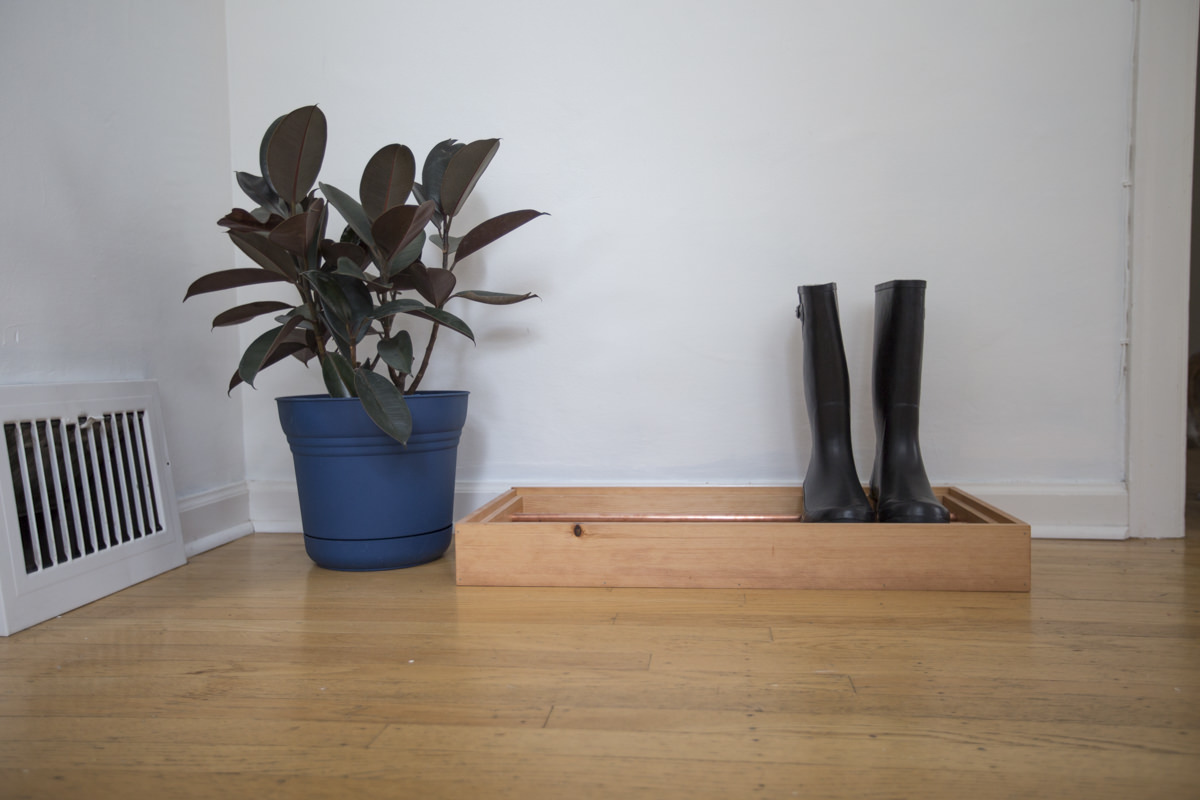 Dunn DIY How to Make a DIY Copper Pipe Boot Tray Seattle WA 22