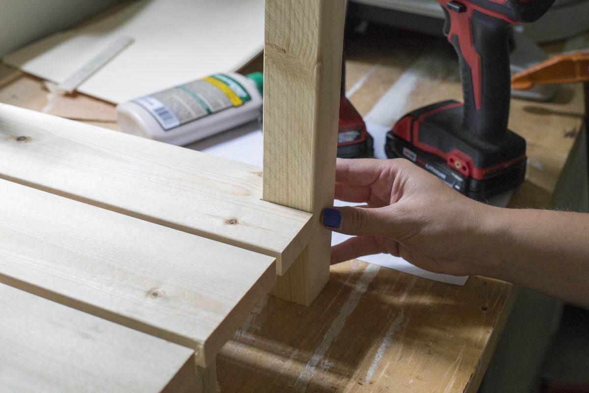 gluing crate leg